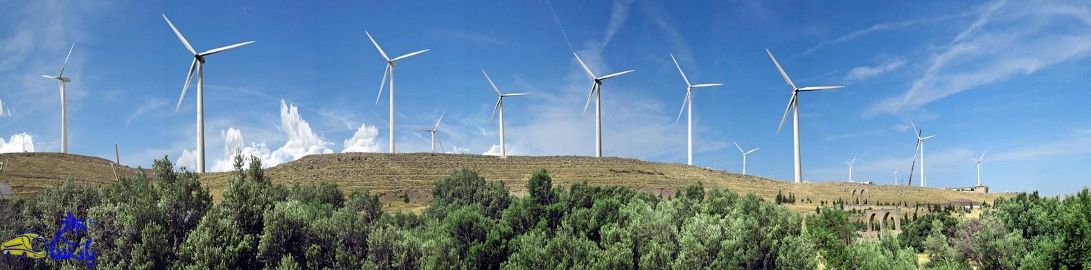نیروگاه های بادی منجیل